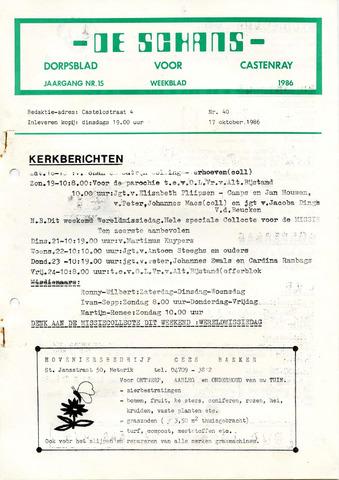Castenrays dorpsblad De Schans 1986-10-17
