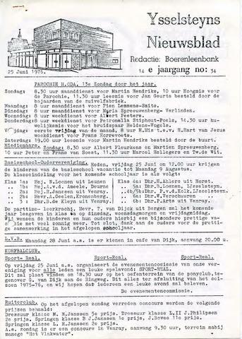 Ysselsteyns Nieuwsblad 1976-06-25