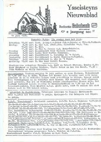 Ysselsteyns Nieuwsblad 1978-07-14
