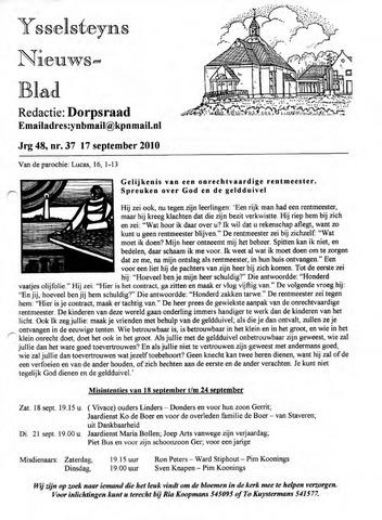 Ysselsteyns Nieuwsblad 2010-09-17