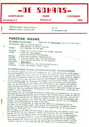 Castenrays dorpsblad De Schans 1980-09-19