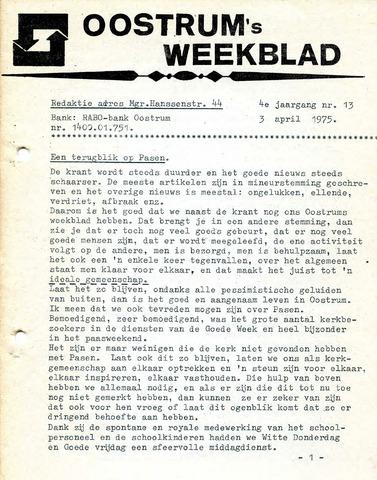 Oostrum's Weekblad 1975-04-03