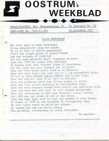 Oostrum's Weekblad 1977-12-29