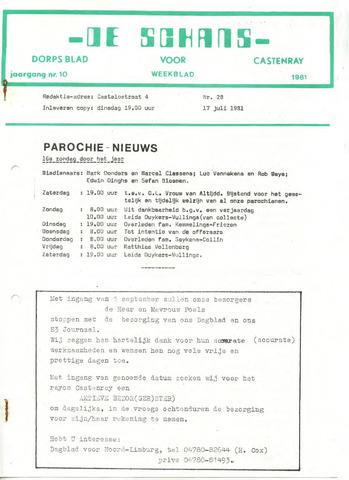 Castenrays dorpsblad De Schans 1981-07-17