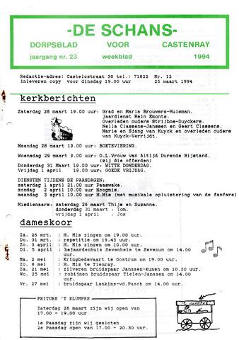 Castenrays dorpsblad De Schans 1994-03-25