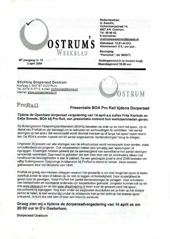 Oostrum's Weekblad 2009-04-02