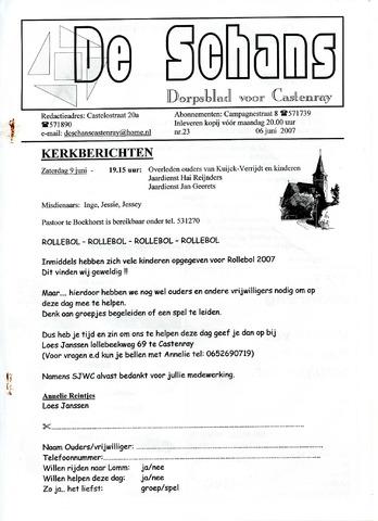 Castenrays dorpsblad De Schans 2007-06-06