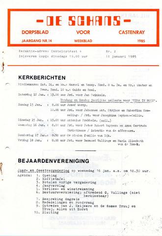 Castenrays dorpsblad De Schans 1985-01-11