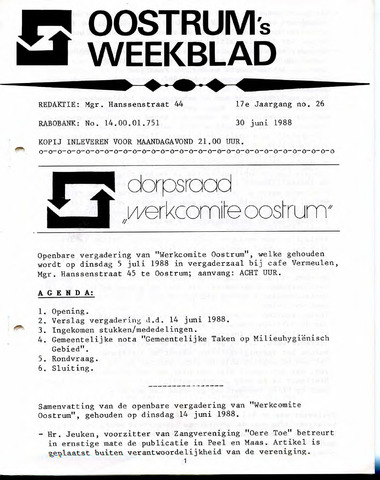 Oostrum's Weekblad 1988-06-30