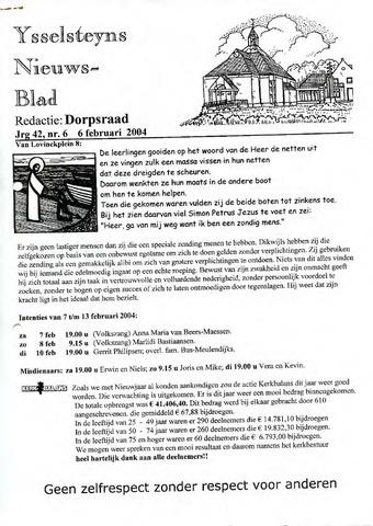 Ysselsteyns Nieuwsblad 2004-02-06