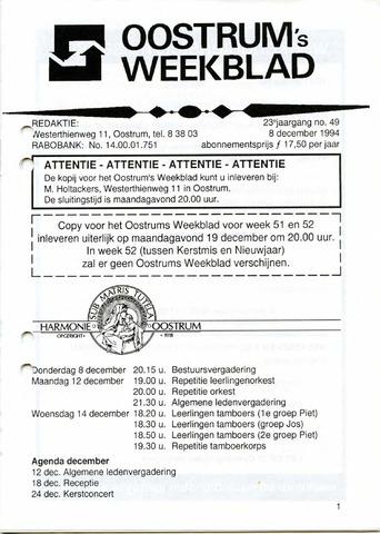 Oostrum's Weekblad 1994-12-08