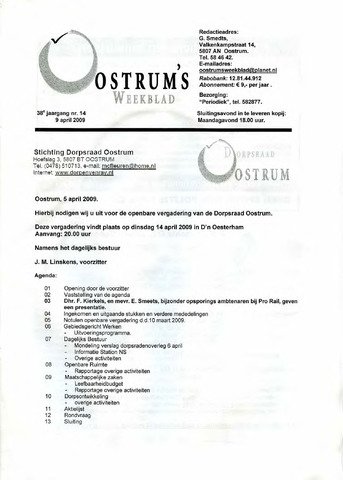 Oostrum's Weekblad 2009-04-09