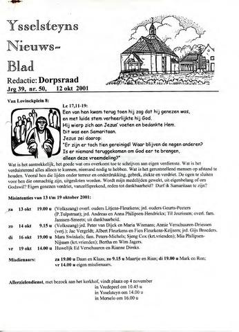 Ysselsteyns Nieuwsblad 2001-10-12