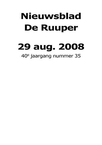 Dorpsblad Leunen-Veulen-Heide 2008-08-29