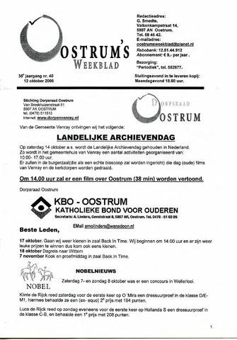 Oostrum's Weekblad 2006-10-12
