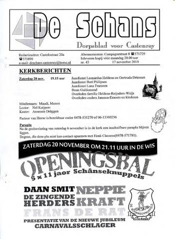 Castenrays dorpsblad De Schans 2010-11-17
