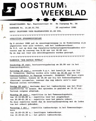 Oostrum's Weekblad 1980-09-25