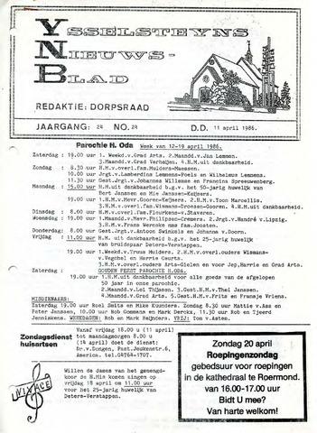 Ysselsteyns Nieuwsblad 1986-04-11