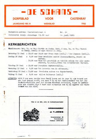 Castenrays dorpsblad De Schans 1985-06-14