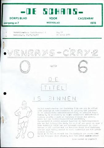 Castenrays dorpsblad De Schans 1978-04-28