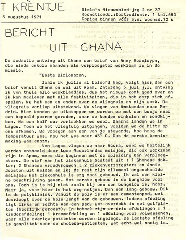 Oirlo's dorpsblad 't Krèntje 1971-08-06
