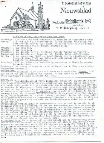 Ysselsteyns Nieuwsblad 1977-08-26