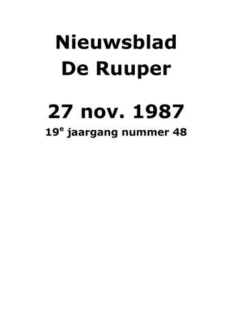 Dorpsblad Leunen-Veulen-Heide 1987-11-27