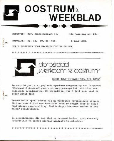 Oostrum's Weekblad 1986-06-05