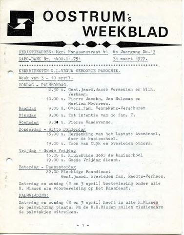 Oostrum's Weekblad 1977-03-31