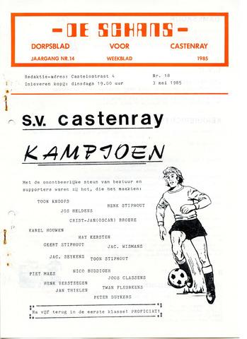Castenrays dorpsblad De Schans 1985-05-03