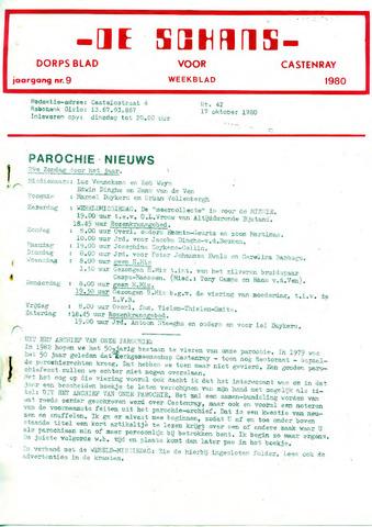 Castenrays dorpsblad De Schans 1980-10-17
