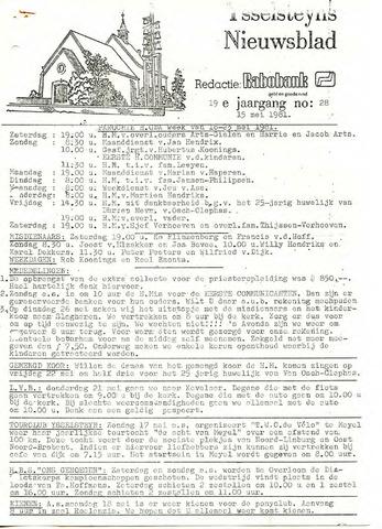 Ysselsteyns Nieuwsblad 1981-05-15