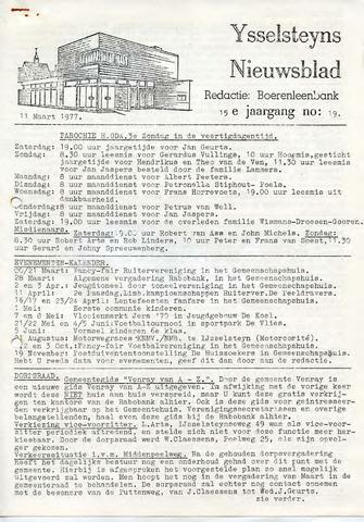 Ysselsteyns Nieuwsblad 1977-03-11