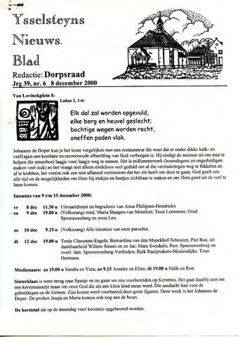 Ysselsteyns Nieuwsblad 2000-12-08