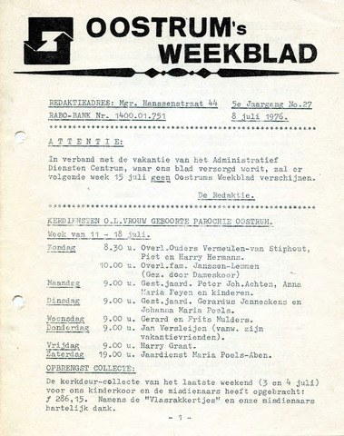 Oostrum's Weekblad 1976-07-08