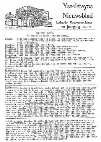 Ysselsteyns Nieuwsblad 1974-04-19