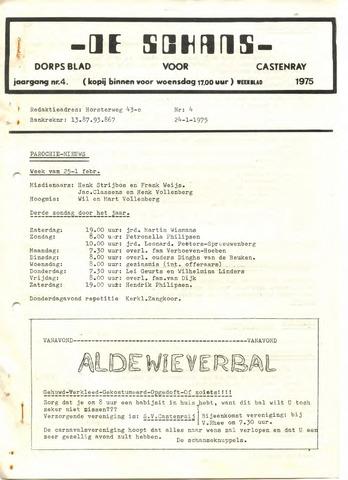 Castenrays dorpsblad De Schans 1975-01-24