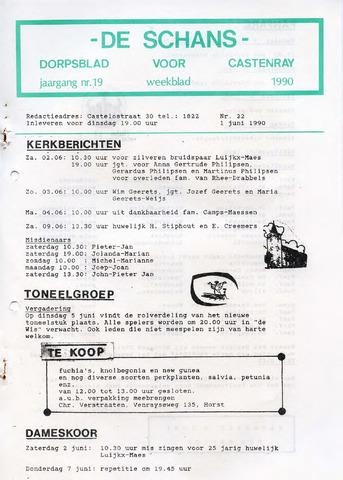 Castenrays dorpsblad De Schans 1990-06-01
