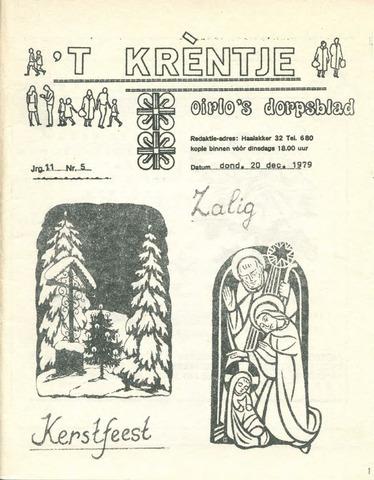 Oirlo's dorpsblad 't Krèntje 1979-12-20