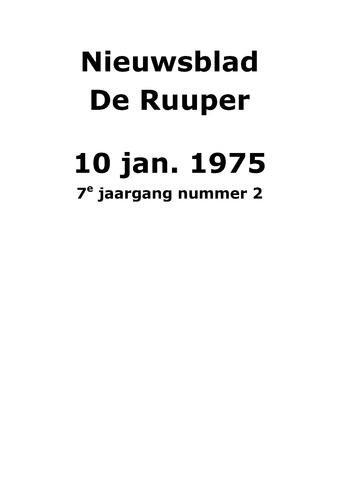 Dorpsblad Leunen-Veulen-Heide 1975-01-10
