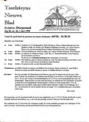 Ysselsteyns Nieuwsblad 1998-05-01