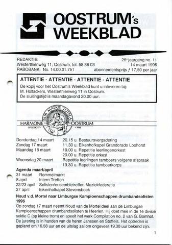Oostrum's Weekblad 1996-03-14