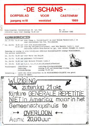 Castenrays dorpsblad De Schans 1989-10-20