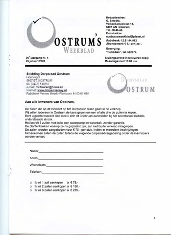 Oostrum's Weekblad 2007-01-25