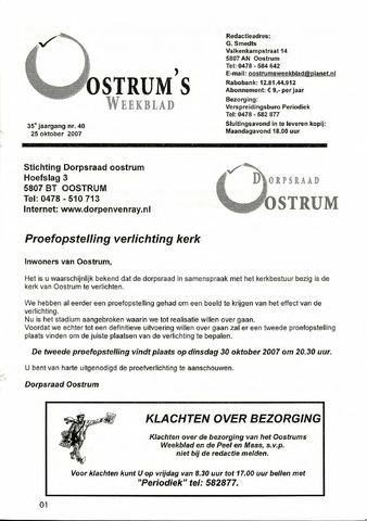 Oostrum's Weekblad 2007-10-25