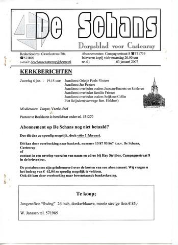 Castenrays dorpsblad De Schans 2007