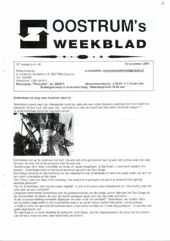 Oostrum's Weekblad 2001-11-15