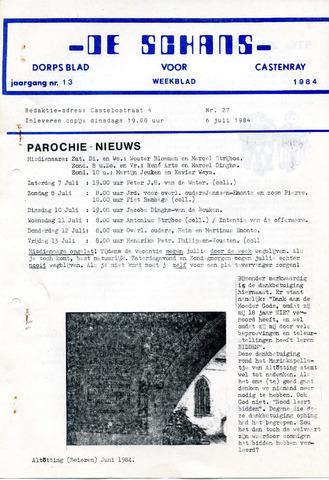 Castenrays dorpsblad De Schans 1984-07-06