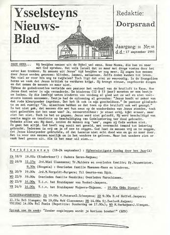 Ysselsteyns Nieuwsblad 1993-09-17