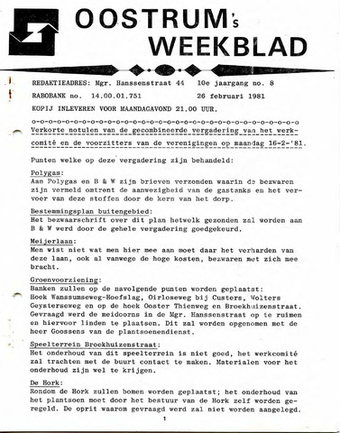 Oostrum's Weekblad 1981-02-26